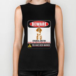 Beware Of Epagneul Breton This Dog Is Loving and Kisses A Lot Biker Tank