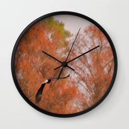 Fall Eagle Wall Clock