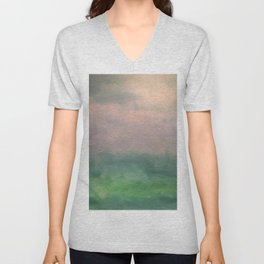 Valley of Dreams - Abstract nature Unisex V-Neck