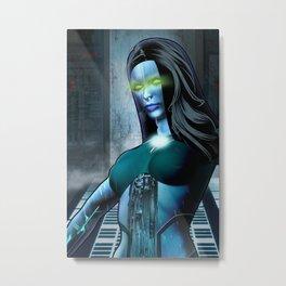 Cyber Girl Leeta Metal Print