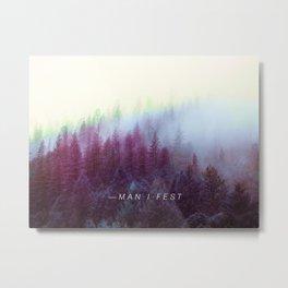 Manifestation Trees - Mantra Poster Metal Print