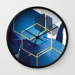 Abstract Geo Landscape Part 1 Wall Clock