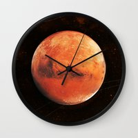 mars Wall Clocks featuring MARS by Alexander Pohl