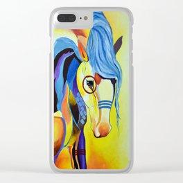 Native American Horse Clear iPhone Case