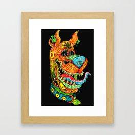 Trippy Dog Framed Art Print