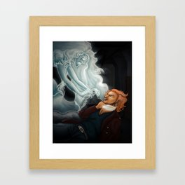 Ghost in the Auto Park Framed Art Print