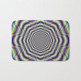 Psychedelic Octagon Pulse Bath Mat