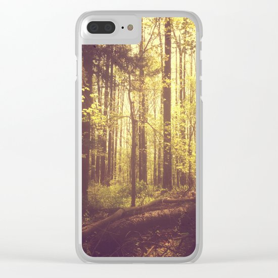 She Experienced Heaven on Earth Among the Trees Clear iPhone Case