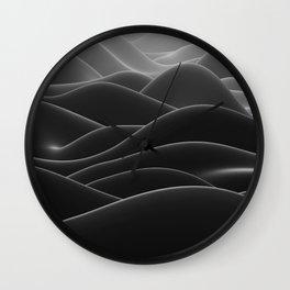 Dark sea of wax Wall Clock