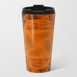 Eternal Rounded Cross in Orange Brown Metal Travel Mug