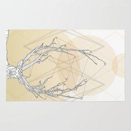 Webbed Antlers Rug