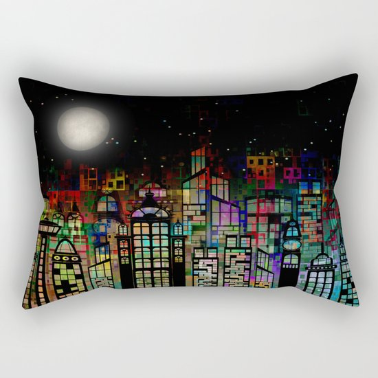 Fairytale City Rectangular Pillow