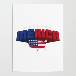 4th Of July Independence Day Merica Poster