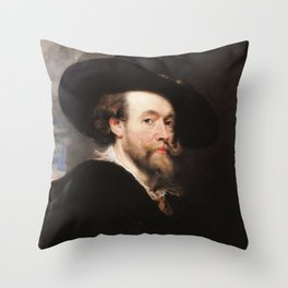 Peter Paul Rubens - Portrait of the Artist Throw Pillow