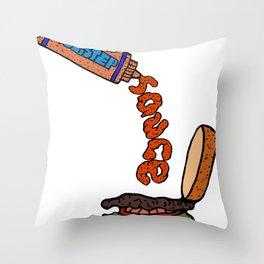 Dubstep Sauce Throw Pillow