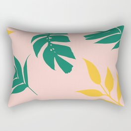 Palm tree with pink backgroud Rectangular Pillow