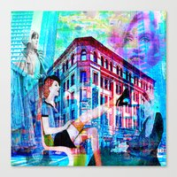 women Canvas Prints featuring Women by Joe Ganech