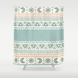 Colorful Geometric Boho Style 1 Shower Curtain