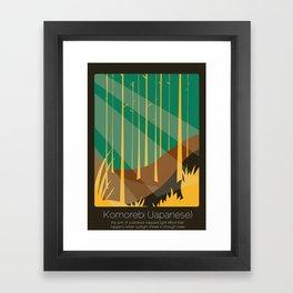 Found In Translation - Komorebi Framed Art Print