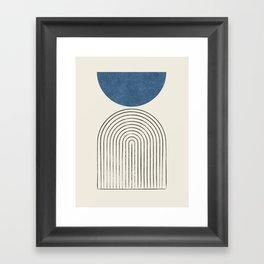 Arch Balance Blue Framed Art Print