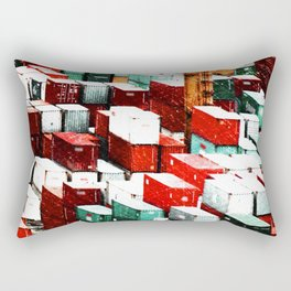 Mint Red Shipping Containers  Rectangular Pillow