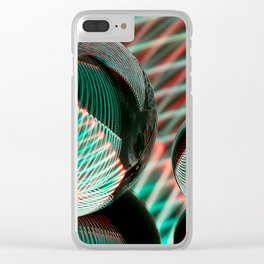 Green and red in two crystal balls. Clear iPhone Case