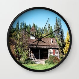 Historical Blanchard Flat Schoolhouse... Wall Clock