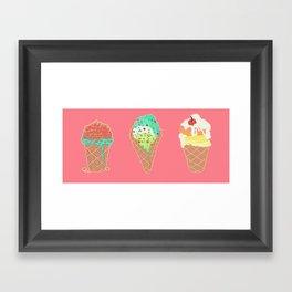 Neon Cones Framed Art Print