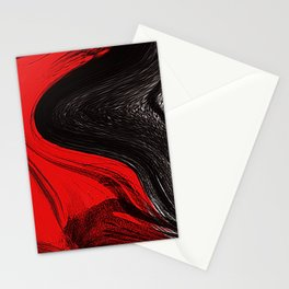 Abstract art red and blacks Stationery Cards