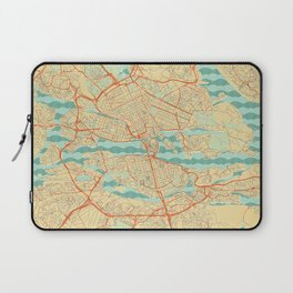 Stockholm Map Retro Laptop Sleeve