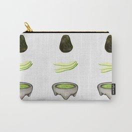 Watercolor fun avocado to guac design Carry-All Pouch