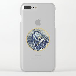Snow Flake Moray Eel Clear iPhone Case