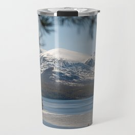 Icy river in Norway Travel Mug