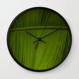 Tropical Leaf Closeup Wall Clock