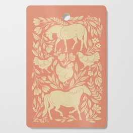 Horses and Chickens Cutting Board