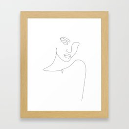 Flirty Look Framed Art Print