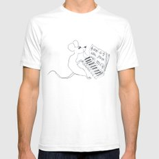 mouse pianist SMALL White Mens Fitted Tee