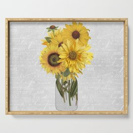 Vintage Sunflower Serving Tray