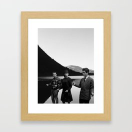 Collage Bande à part (Band of Outsiders) - Jean-Luc Godard Framed Art Print