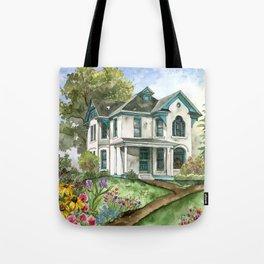 Garden House Tote Bag