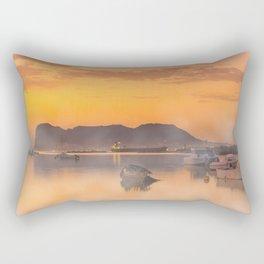 Golden Sunrise Rectangular Pillow