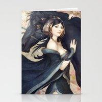 artgerm Stationery Cards featuring Pepper Empress by Artgerm™
