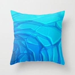 Deep End Throw Pillow