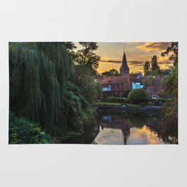 Early Evening Whitchurch on Thames Rug