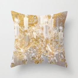 Shabby Glam Chandelier Throw Pillow