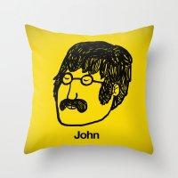 john snow Throw Pillows featuring John. by Matheus Lopes