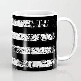 United States of America Black Flag Coffee Mug