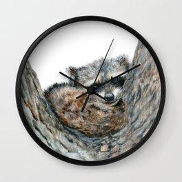 Sleepy Head by Teresa Thompson Wall Clock