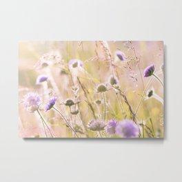 Purple Wildflowers 2 Metal Print