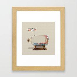 Sending out an SOS Framed Art Print